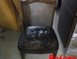 張替前|椅子の座面張り替え
